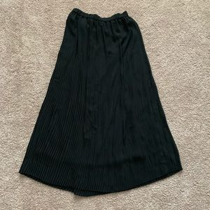 Uniqlo long pleated skirt.